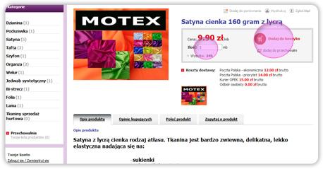 'Motex tkaniny dekoracyne'